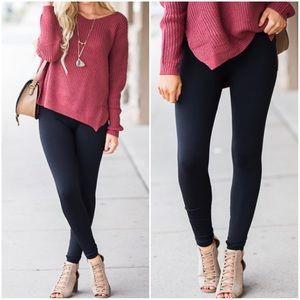 Maddie | Fleece Lined Leggings | Black